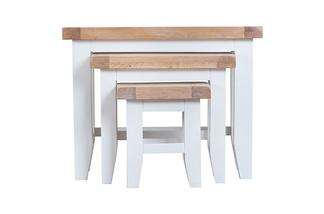 Country Nest of 3 Tables (Wimborne White)