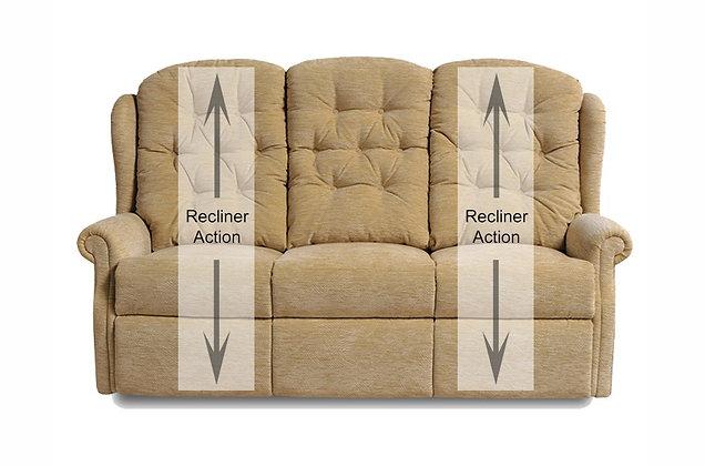 Newbury 3 Seater Double Manual Recliner Sofa