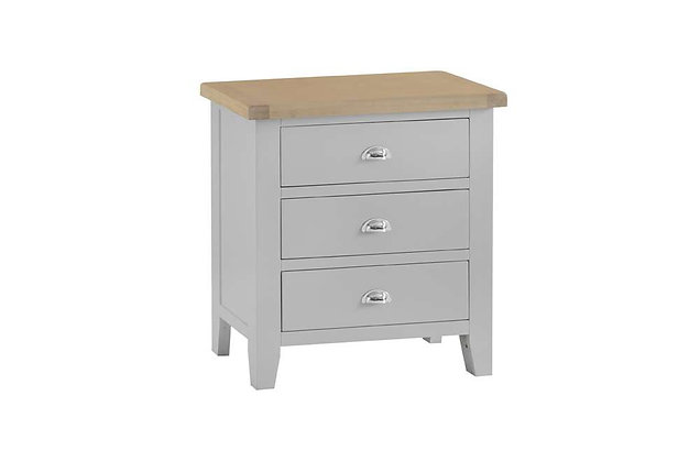 Country 3 Drawer Chest (Ferndown Grey)