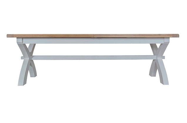 Country 2.5m Cross Extending Table (Ferndown Grey)