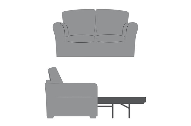 Florence 2 Seater Standard Back Deluxe Sofa Bed