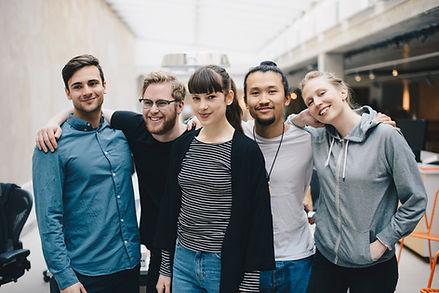 Retrato de grupo de amigos