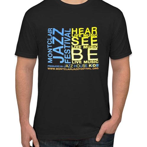 BLACK MONTCLAIR JAZZ FESTIVAL T-SHIRT