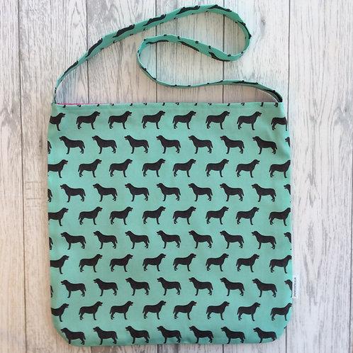 Black Labrador Shopping Tote Bag