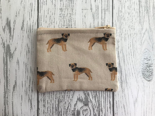 Border Terrier Dog Fabric Coin Purse