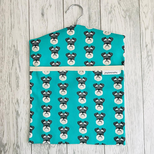 Green Schnauzer Peg Bag