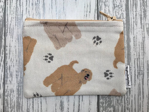 Wheaten Terrier Fabric Coin Purse