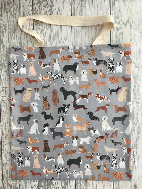 Grey Mixed Dogs Bag for Life