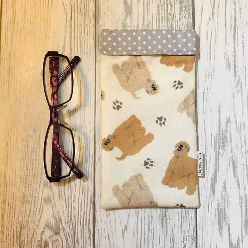Wheaten Terrier Glasses Case