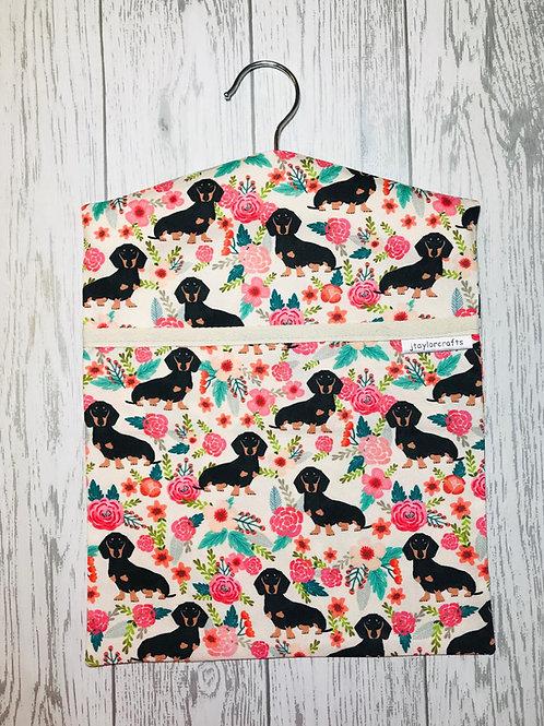 Dachshund Floral Dog Peg Bag