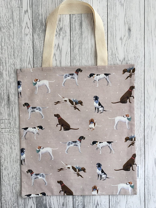 Vintage Pointer Dog Print Bag for Life
