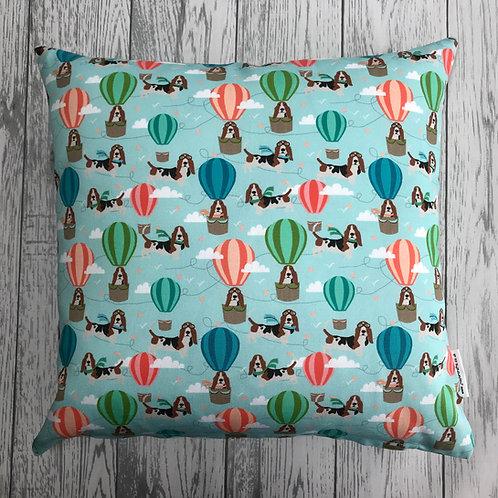 Blue Hound Dog Cushion Cover