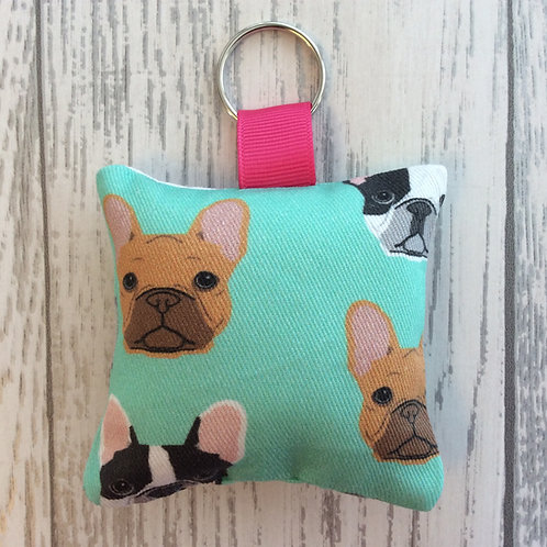 French Bulldog Print Keyring