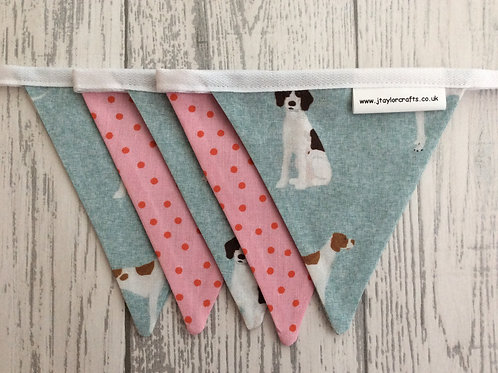 Grey & Pink Pointer Mini Bunting