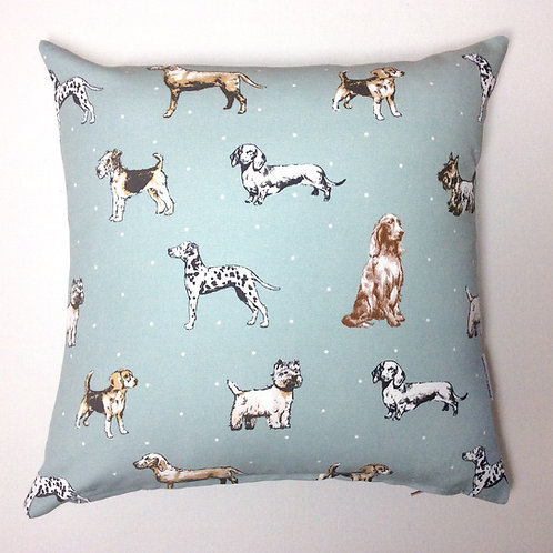 Duck Egg Blue Hound  Cushion Cover