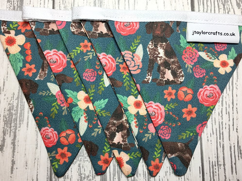 German Shorthaired Pointer Floral Bunting