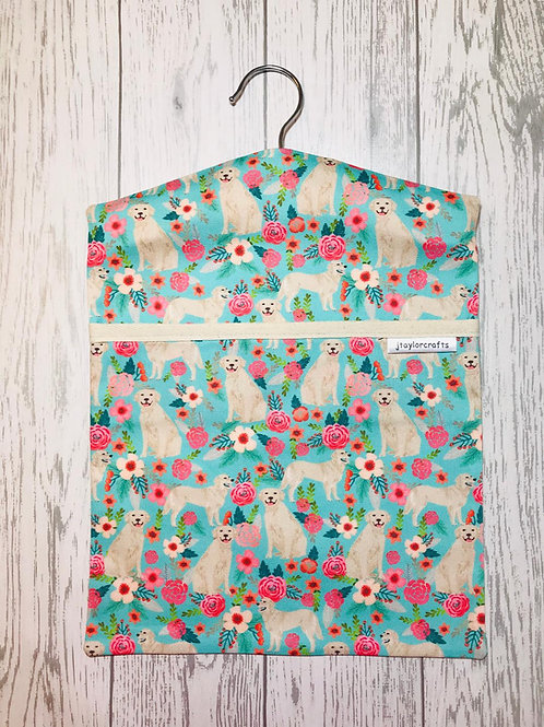 Golden Retriever Floral Peg Bag