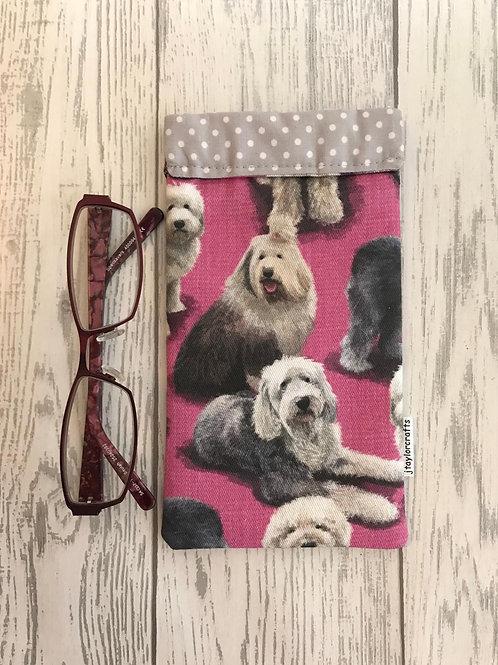 Old English Sheepdog Glasses Case
