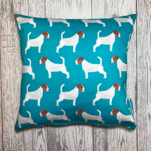 Blue Jack Russell Print Cushion Cover