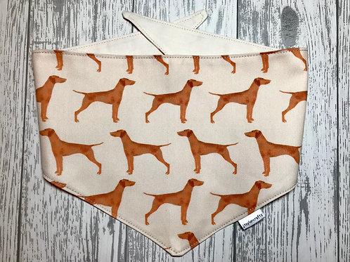 Hungarian Vizsla Dog Reversible Tie Bandana