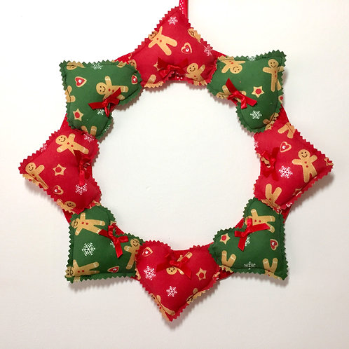 Gingerbread Decorative Heart Wreath