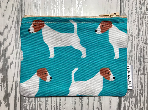 Blue Jack Russell Fabric Coin Purse