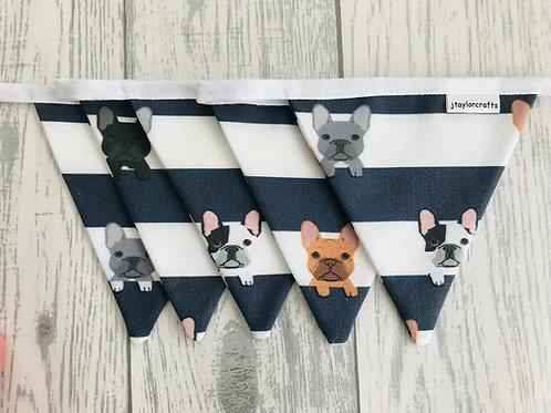 French Bulldog Stripe Bunting