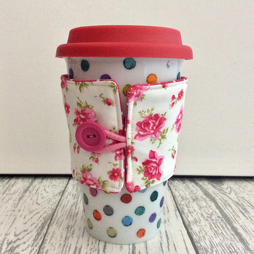 English Rose Print Cup Cozy