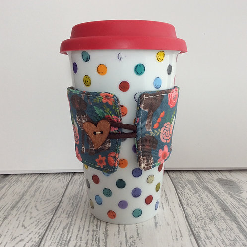 Floral German Shorthaired Pointer Dog Cup Cozy