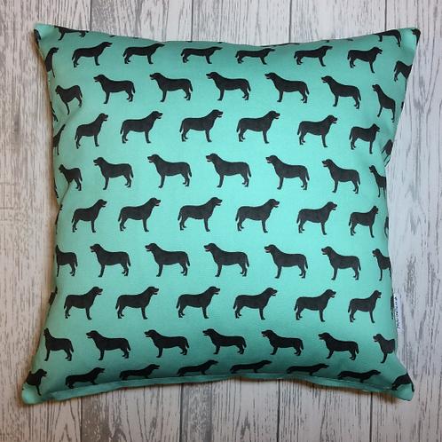 Black Labrador Cushion Cover