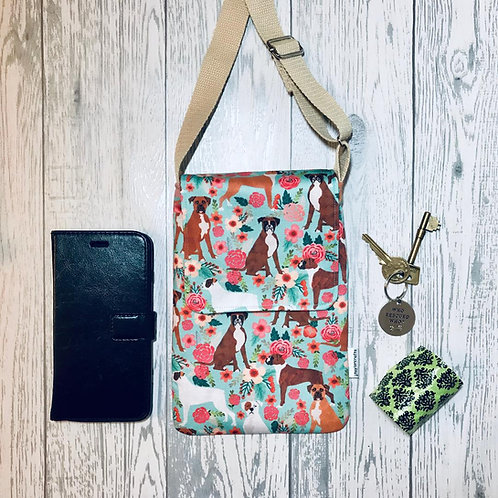 Floral Boxer Handy Shoulder Bag
