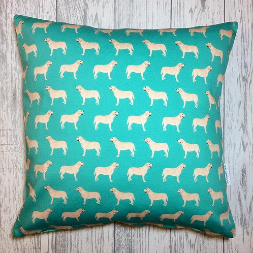Yellow Labrador Cushion Cover