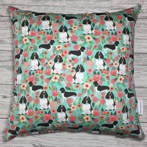 Springer Spaniel Dog Print Cushion Cover