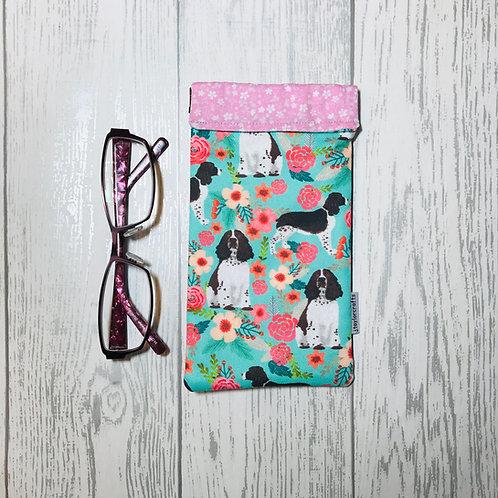 Springer Spaniel Floral Glasses Case