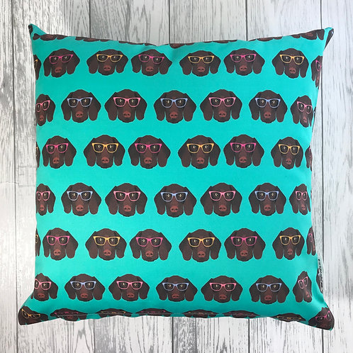 German Shorthaired Pointer Green Cushion Cover
