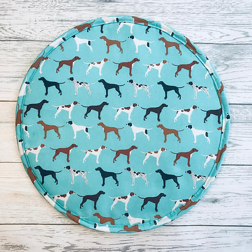 Pair of Blue Pointer Aga Hot Plate Covers
