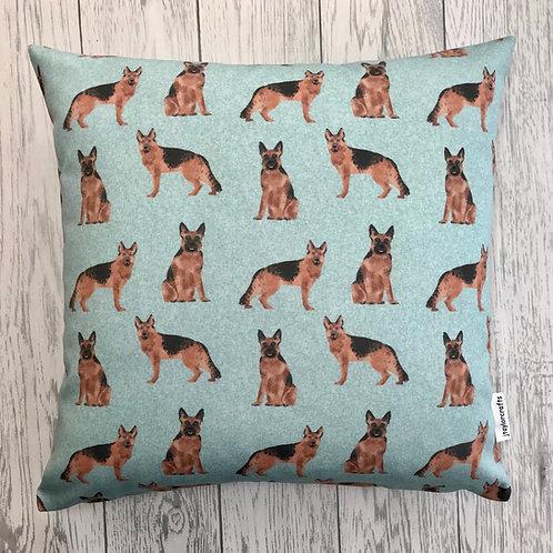 German Shepherd Dog Print Cushion Cover