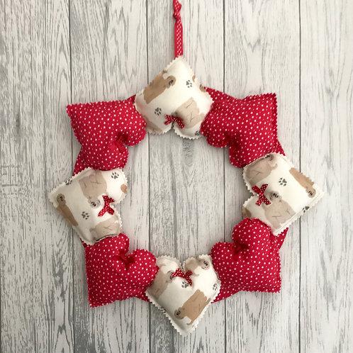 Wheaten Terrier Decorative Heart Wreath