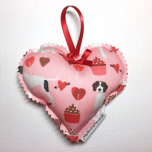 Pink Pointer Print Decorative Heart