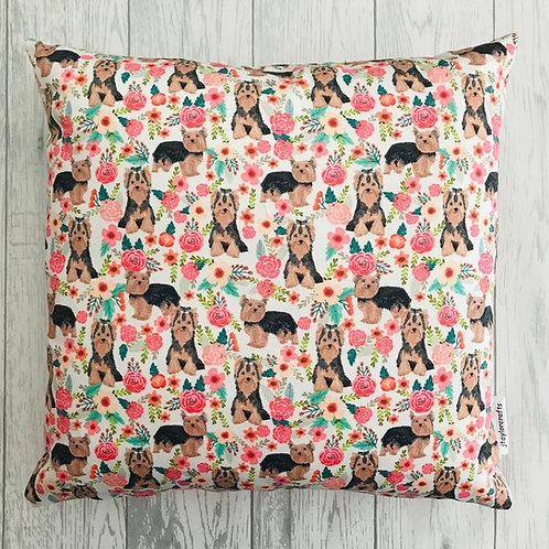 Yorkshire Terrier Dog Print Cushion Cover