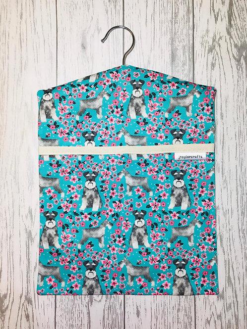 Schnauzer Floral Peg Bag