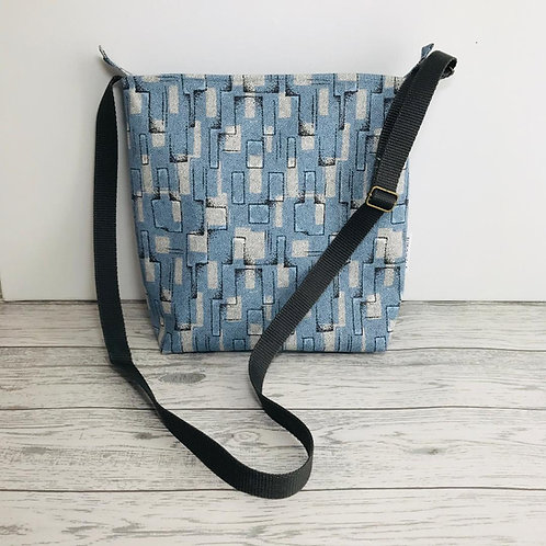 Blue Abstract Tote Shoulder Bag