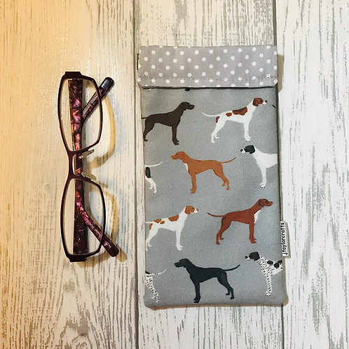 Grey Pointer Glasses Case