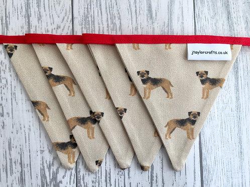 Border Terrier Tan Vintage Bunting