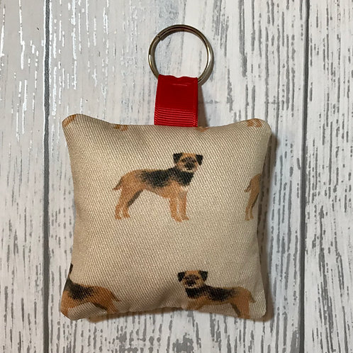 Border Terrier Dog Print Keyring