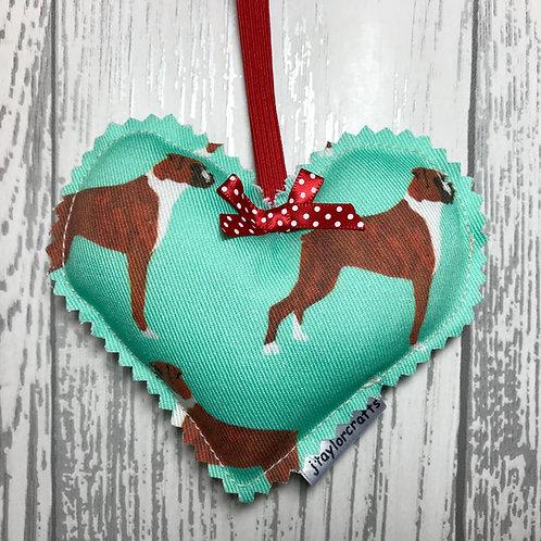 Green Boxer Fabric Decorative Heart