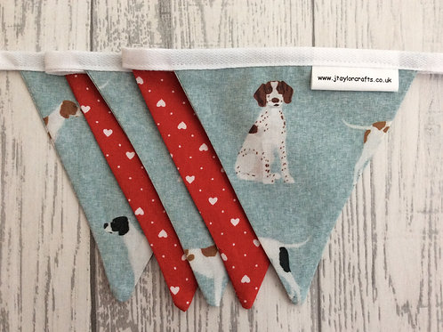 Grey & Red Pointer Bunting