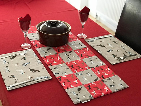 Vintage Pointer Fabric Table Runner