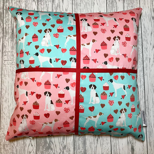 Blue and Pink Pointer Cushion Cover