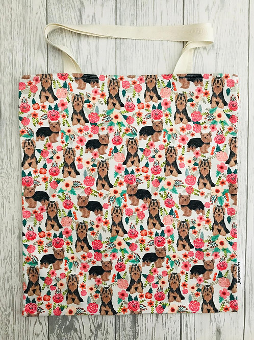 Yorkshire Terrier Dog Print Bag for Life